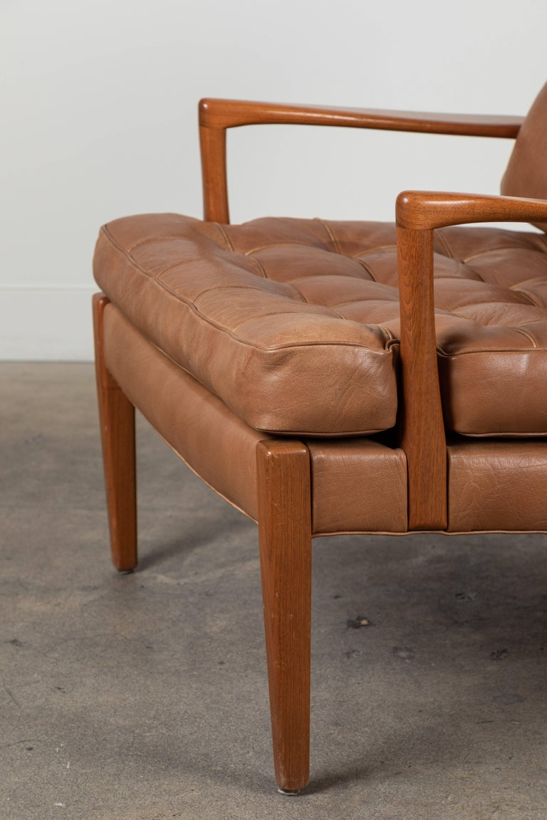 Swedish Pair of Löven Lounge Chairs by Arne Norell For Sale