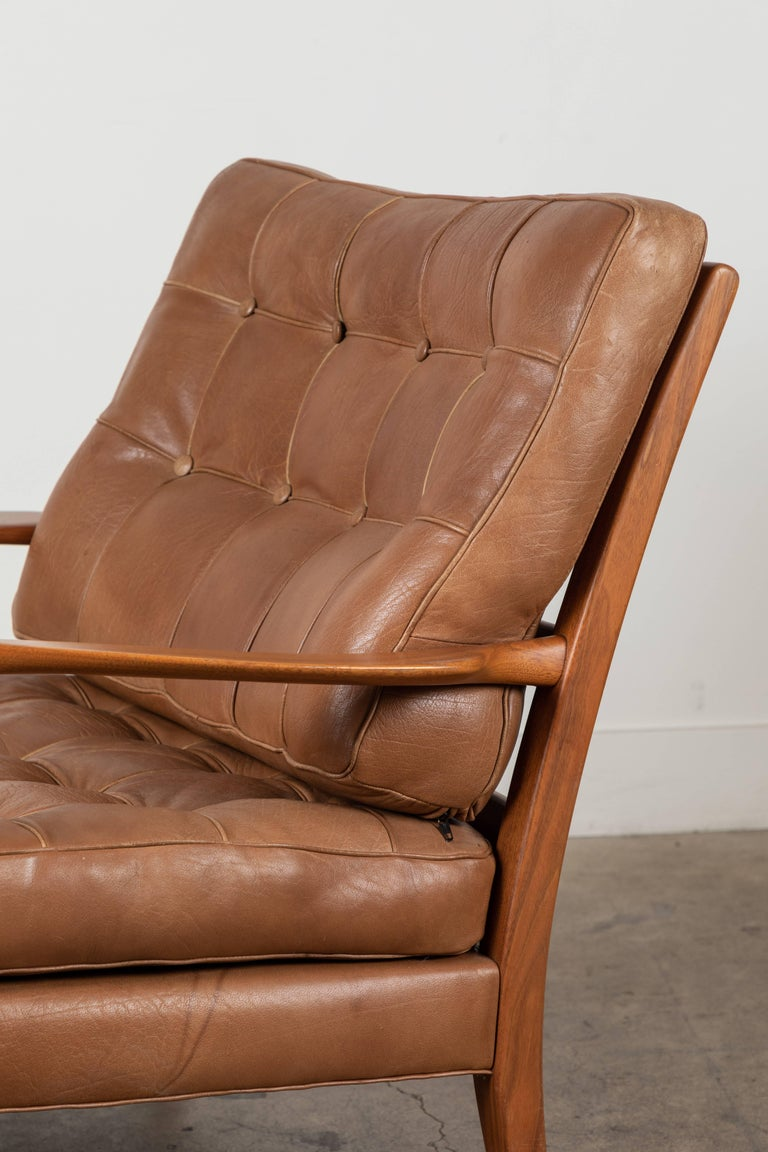 Early 20th Century Pair of Löven Lounge Chairs by Arne Norell For Sale