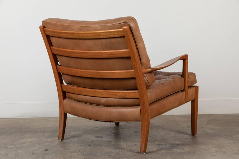 Pair of Löven Lounge Chairs by Arne Norell For Sale 3
