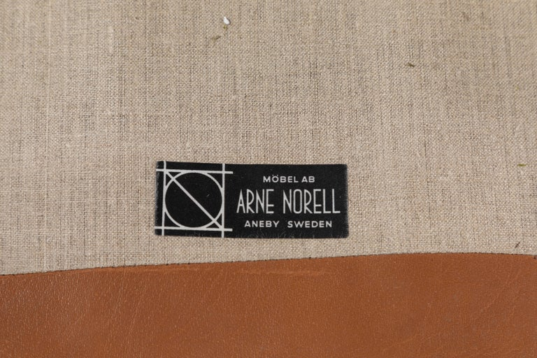 Pair of Löven Lounge Chairs by Arne Norell For Sale 5