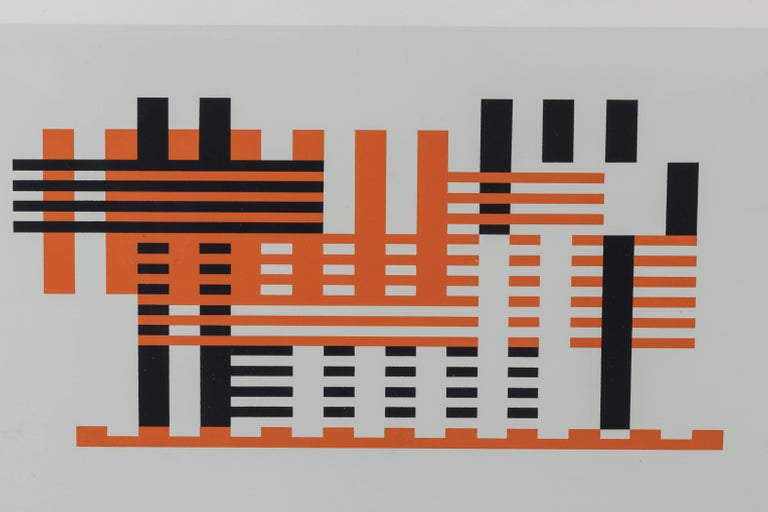 Silkscreen print from Formulation Articulation by Josef Albers.