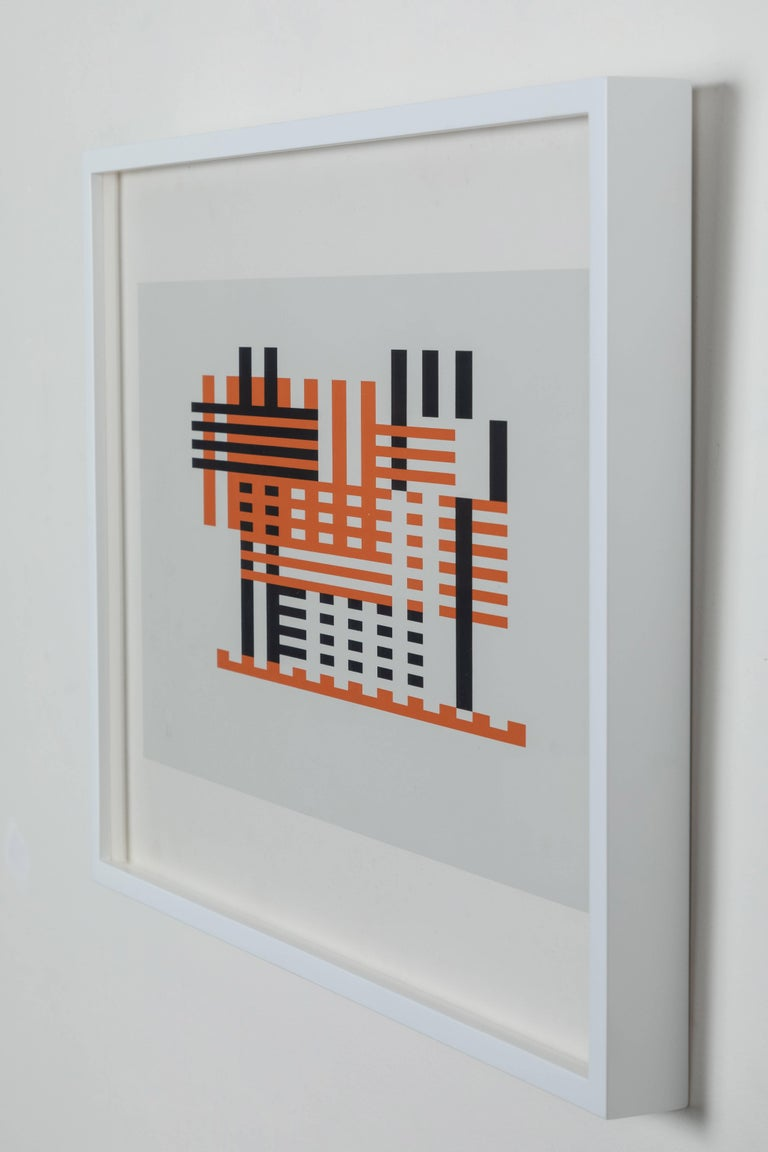 Mid-Century Modern Silkscreen Print from Formulation Articulation by Josef Albers For Sale