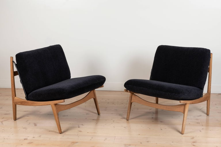 Pair of Maker's lounge chairs by Lawson-Fenning in Alpaca Mohair  Available to order in customer's own material with a 12-14 week lead time  As shown: $2,750 each To order: $2,350 + COM each.