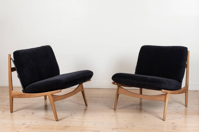 American Pair of Maker's Lounge Chairs by Lawson-Fenning For Sale