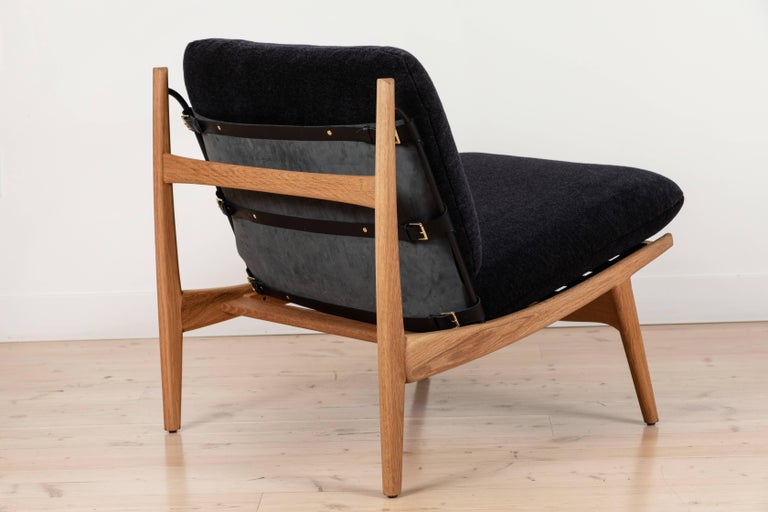 Pair of Maker's Lounge Chairs by Lawson-Fenning For Sale 1