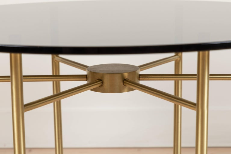 Glass Radial Side Table by Lawson-Fenning For Sale
