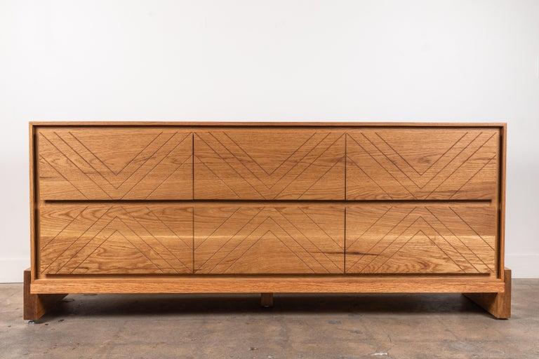 Oak Platform Chest by Lawson-Fenning For Sale
