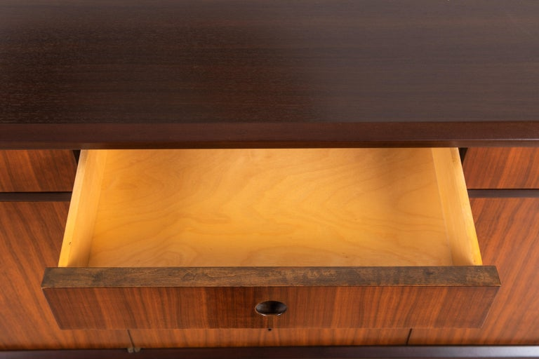 Mid-20th Century Walnut Credenza by Edmond J. Spence For Sale
