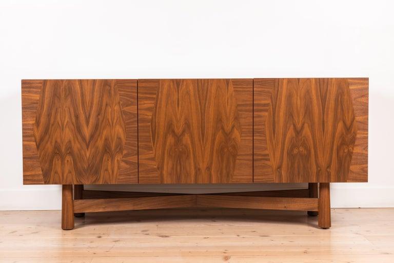 Walnut 3-Door Bronson Cabinet by Lawson-Fenning For Sale