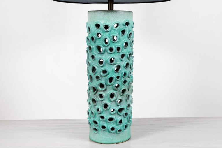 Mid-Century Modern Large Trafitto Lamp by Magnolia Ceramics for Lawson-Fenning For Sale