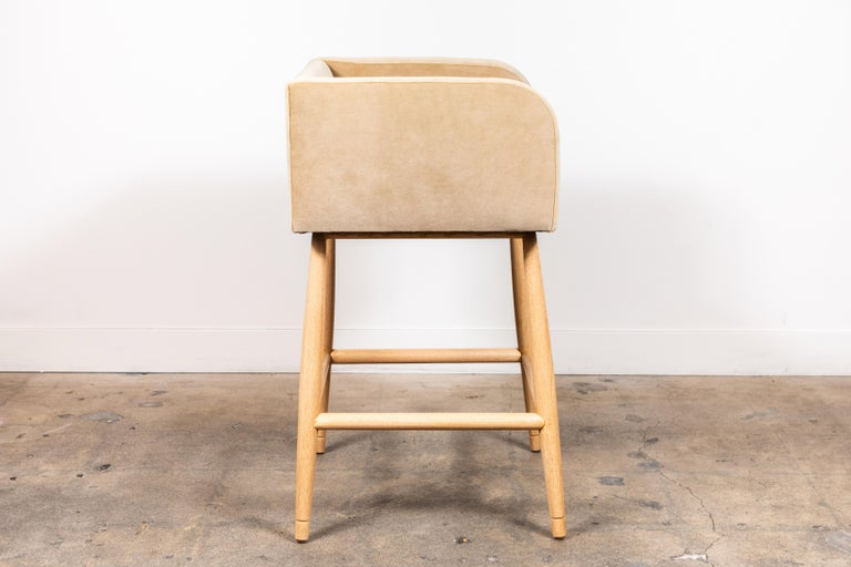 Mid-Century Modern Moreno Barstool by Lawson-Fenning For Sale