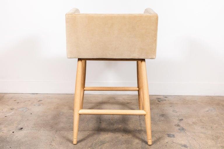 Oak Moreno Barstool by Lawson-Fenning For Sale
