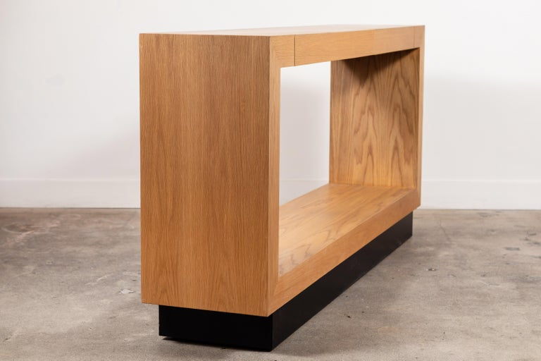 Palisades Console with Metal Inset Base by Lawson-Fenning For Sale 3
