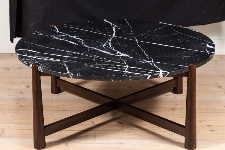 Marble Bronson Coffee Table Round by Lawson-Fenning For Sale