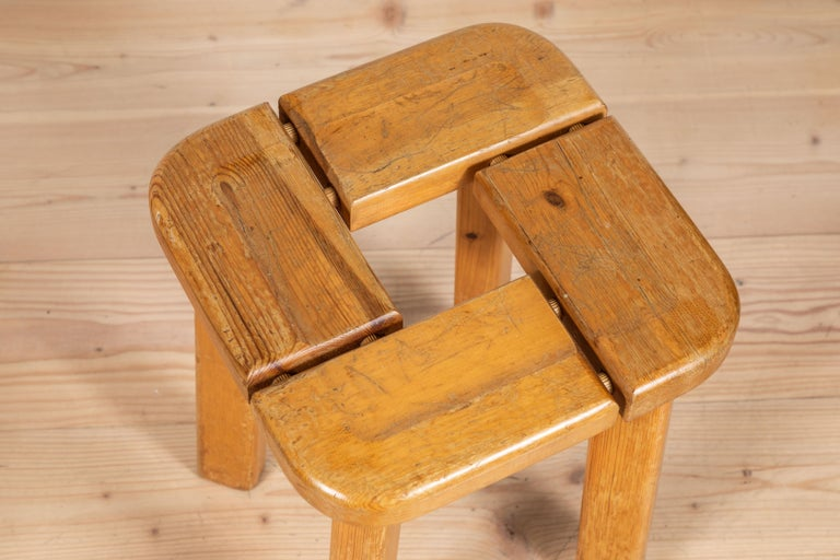 Pair of vintage Finnish pine stools.