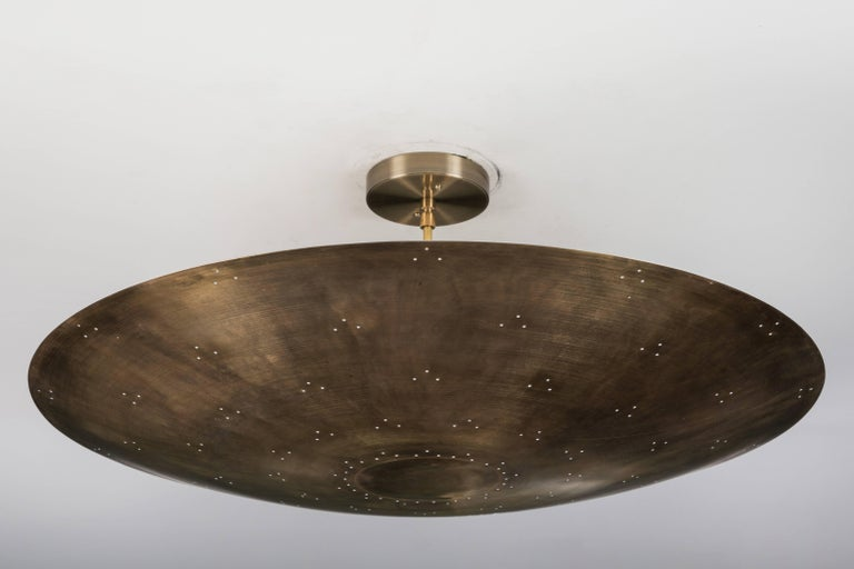 American Alta Brass Dome Chandelier by Lawson-Fenning For Sale