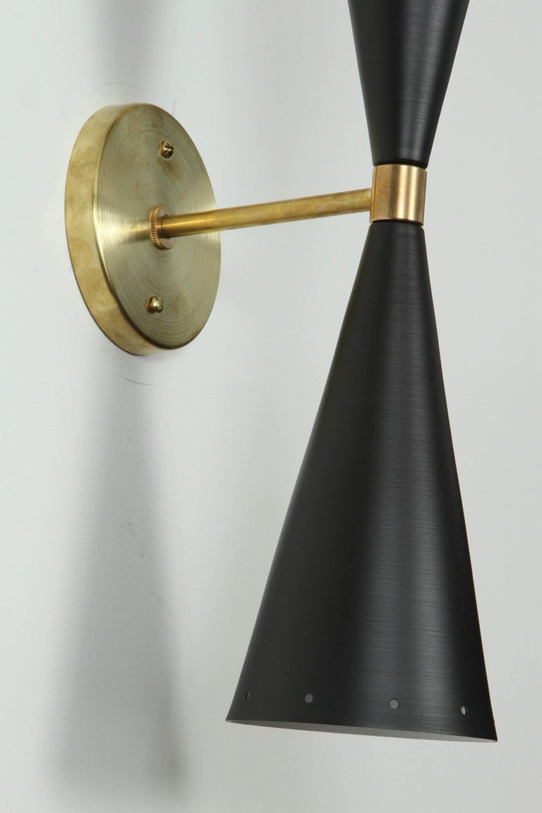 Double Cone Sconce by Lawson-Fenning In Excellent Condition For Sale In Los Angeles, CA