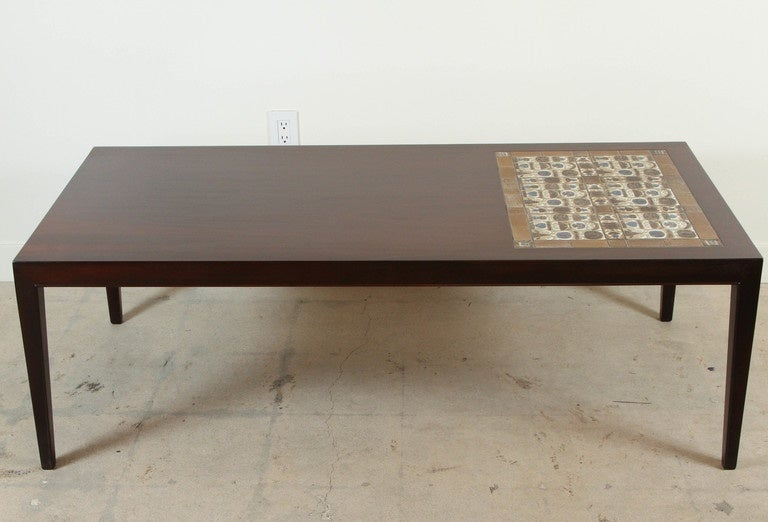 Danish Rosewood And Mosaic Tile Top Coffee Table By Severin Hansen 2