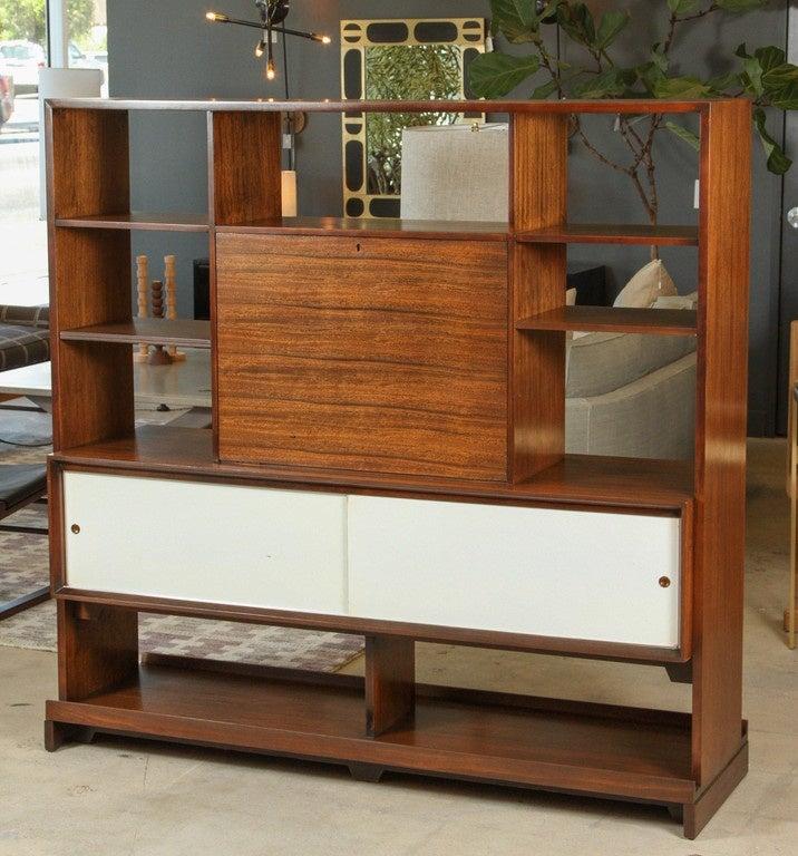 Custom Room Divider Desk by Milo Baughman for Drexel at 1stdibs