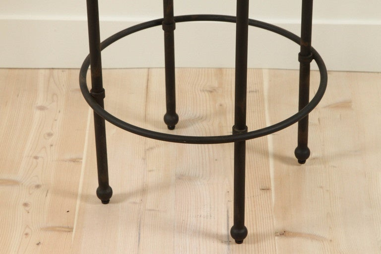 American Orsini Counterstool in Nubuck and Blackned Steel by Lawson-Fenning For Sale
