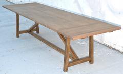 Custom Dining Table in Vintage Oak. Extendable.