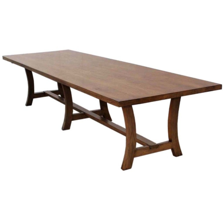 Dining Table Made from Vintage Black Walnut, Custom Made by Petersen Antiques