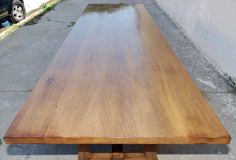 American Dining Table Made from Vintage Black Walnut, Custom Made by Petersen Antiques For Sale