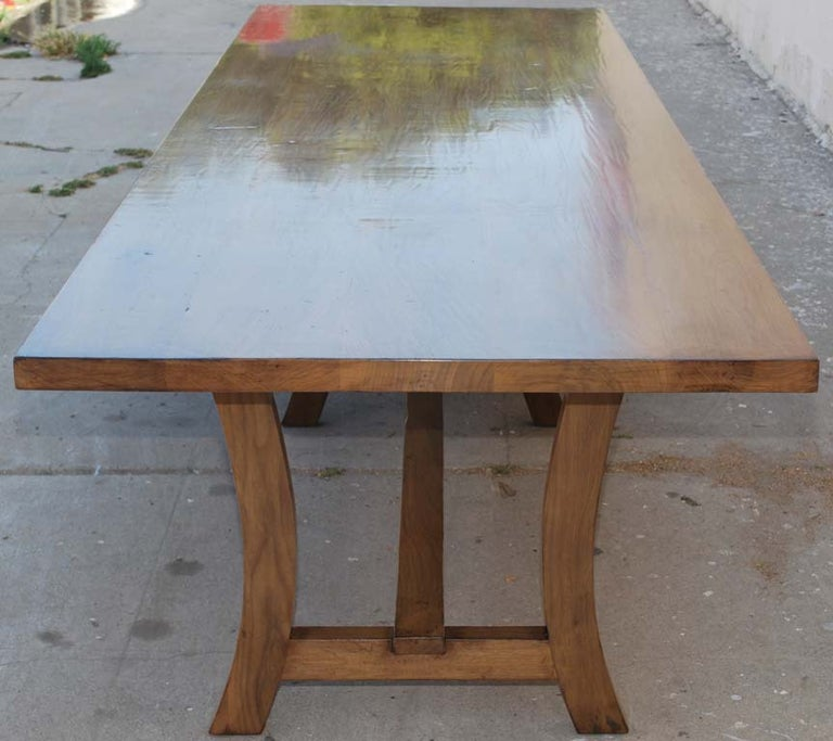 Bleached Dining Table Made from Vintage Black Walnut, Custom Made by Petersen Antiques For Sale