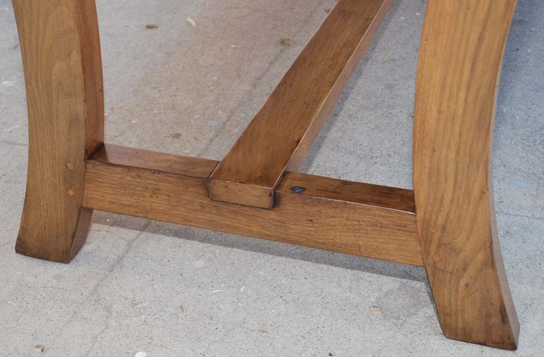 Contemporary Dining Table Made from Vintage Black Walnut, Custom Made by Petersen Antiques For Sale