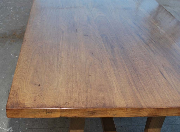 Dining Table Made from Vintage Black Walnut, Custom Made by Petersen Antiques For Sale 1