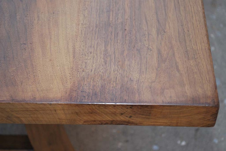 Dining Table Made from Vintage Black Walnut, Custom Made by Petersen Antiques For Sale 2