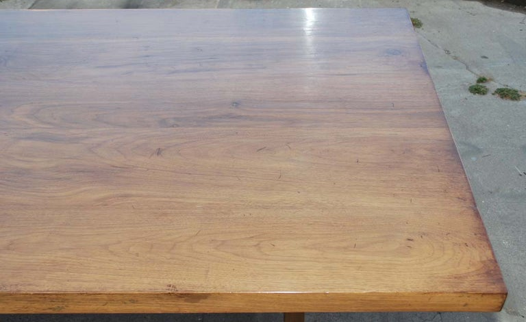 Dining Table Made from Vintage Black Walnut, Custom Made by Petersen Antiques For Sale 3