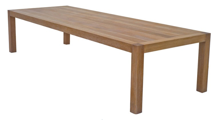 Traditional true limed finished on solid rift sawn white oak.  Because each table is bench-made in our own Los Angeles workshop you can influence all aspects of design, including size, wood specie and finish. We use only traditional carpentry