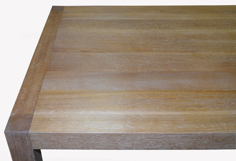 Parsons Table with Classic Limed Oak Finish, Built to Order For Sale 1