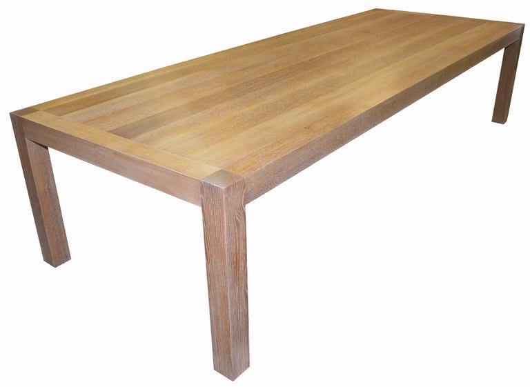 Parsons Table With Classic Limed Oak Finish 3