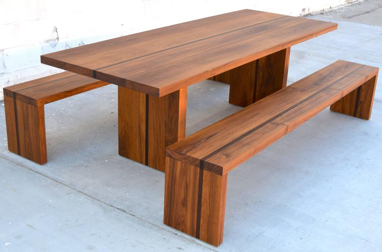 Superbe Zen And The Outdoor Dining Table. Sturdy Table And Benches In Teak And Wenge  Wood