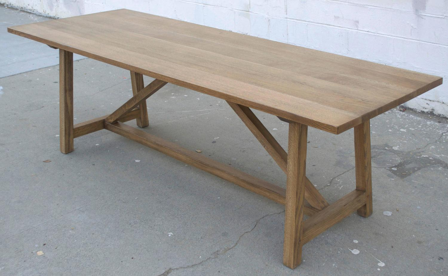 custom dining table in rift white oak for sale at 1stdibs. Black Bedroom Furniture Sets. Home Design Ideas