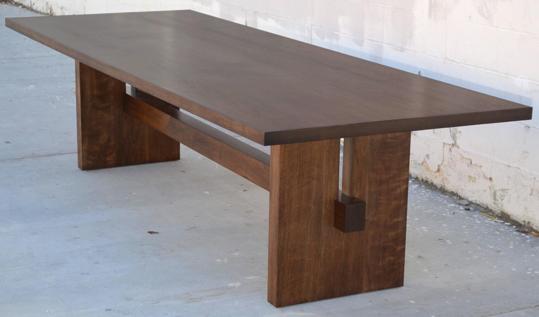 Black Walnut Trestle Table For Sale At 1stdibs