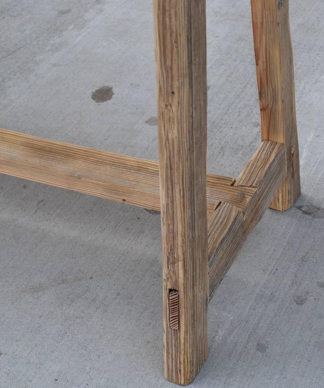 Contemporary Work/Console Table in Vintage Fir, Custom Made by Petersen Antiques For Sale