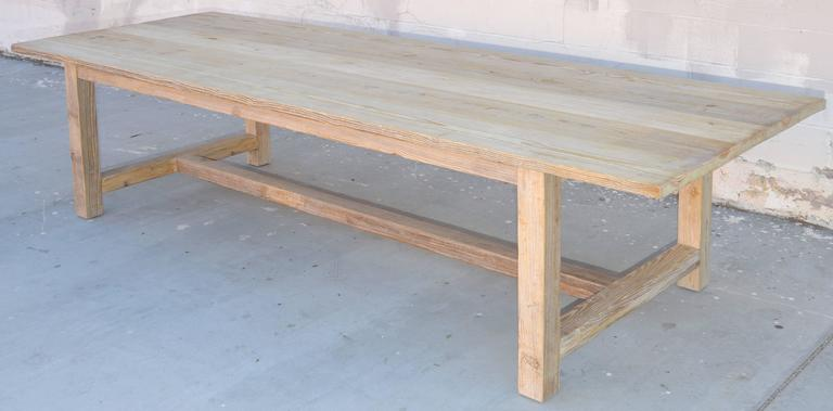 Rustic Farm Or Harvest Table Made From Vintage, Reclaimed Wood; Up To 10  Feet