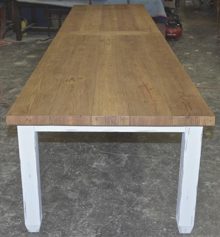 This Long Farm Table Is Made Entirely Of Reclaimed, Vintage Heart Pine And  Hand Selected