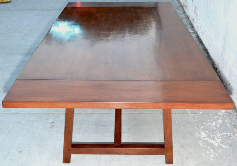 Hand-Crafted Dining Table in Walnut with Extensions, Made to Order by Petersen Antiques For Sale