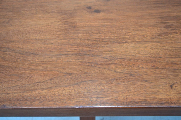 Contemporary Dining Table in Walnut with Extensions, Made to Order by Petersen Antiques For Sale