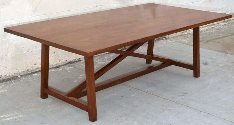Dining Table in Walnut with Extensions, Made to Order by Petersen Antiques For Sale 3