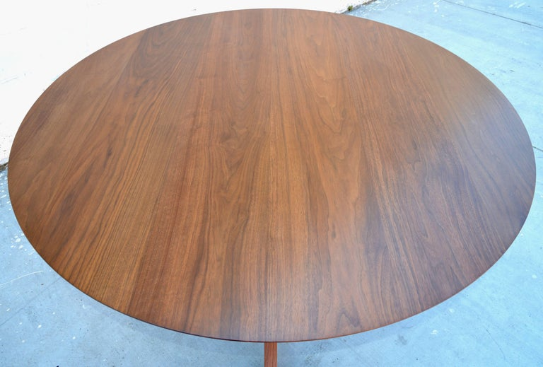 Contemporary 'Sputnik' Dining Table in Solid Walnut, Built to Order by Petersen Antiques For Sale