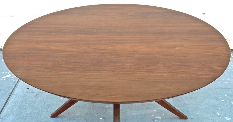 'Sputnik' Dining Table in Solid Walnut, Built to Order by Petersen Antiques For Sale 1