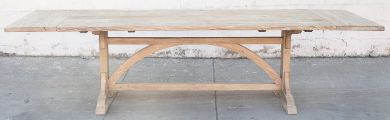 Reclaimed Wood Expandable Farm Table in Vintage Heart Pine, Made to Order by Petersen Antiques For Sale