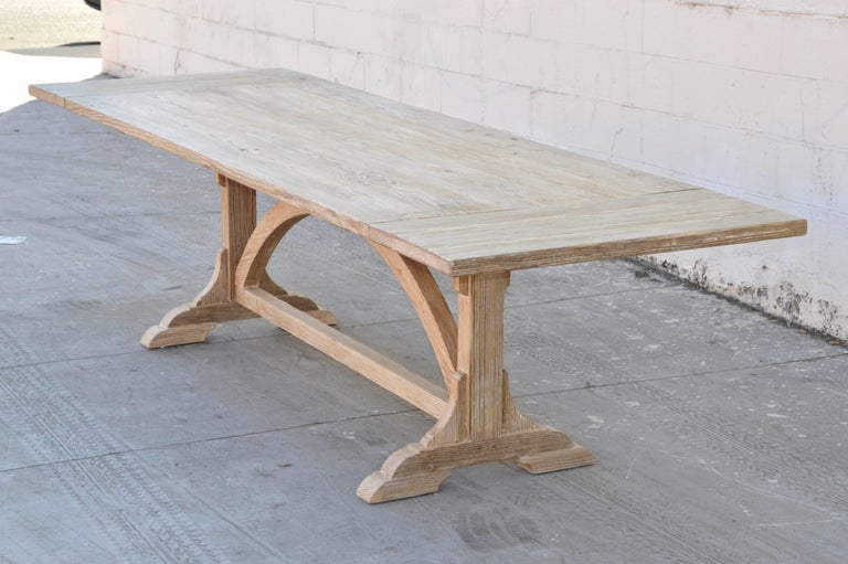Expandable Farm Table in Vintage Heart Pine, Made to Order by Petersen Antiques For Sale 1