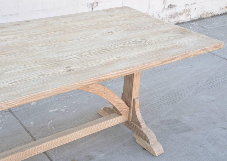 Expandable Farm Table in Vintage Heart Pine, Made to Order by Petersen Antiques For Sale 2