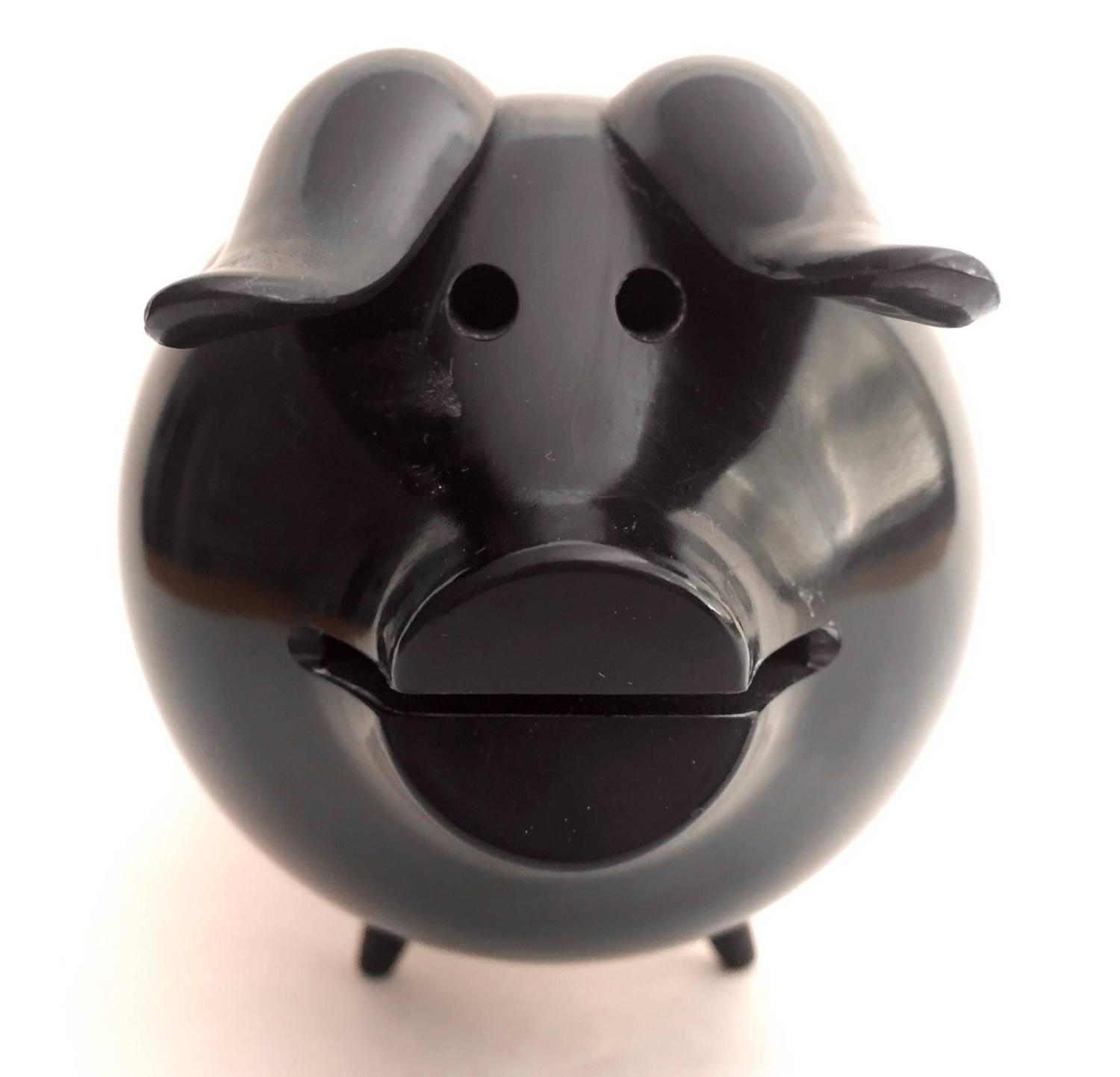 Sterling silver and resin piggy bank for sale at 1stdibs - Resin piggy banks ...